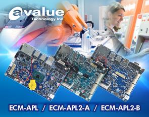 安勤推出3.5吋Apollo Lake系列嵌入式单板ECM-APL、ECM-APL2-A 与 ECM-APL2-B,专为满足入门应用市场设计