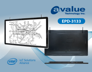 Avalue embedded e-paper information display solution EPD-3133