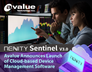 Avalue Announces Launch of Cloud-based Device Management Software - Renity Sentinel V3.0