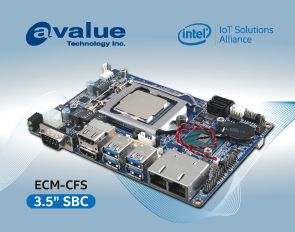 Avalue release the latest 3.5-inch signal board computer, ECM-CFS