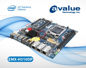Avalue introduces EMX-H310DP, a Thin Mini ITX 8/9th Gen Intel® CoreTM /Pentium® / Celeron® Processor SoC Embedded Industrial motherboards