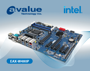 Avalue introduces EAX-W480P, an ATX motherboard with 10th Gen Intel® Xeon® W-1200 Series (Workstation)/ Intel® CoreTM/ Pentium®/ Celeron ® Processor SoC Embedded Industrial motherboards