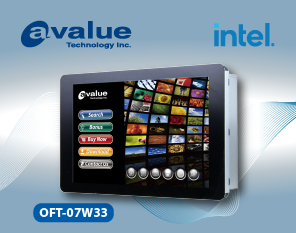 Avalue Debuts Open Frame Multi-Touch Panel PC OFT-07W33
